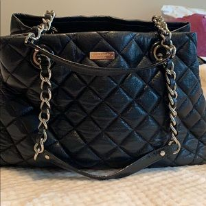 Kate Spade Black Quitted Tote